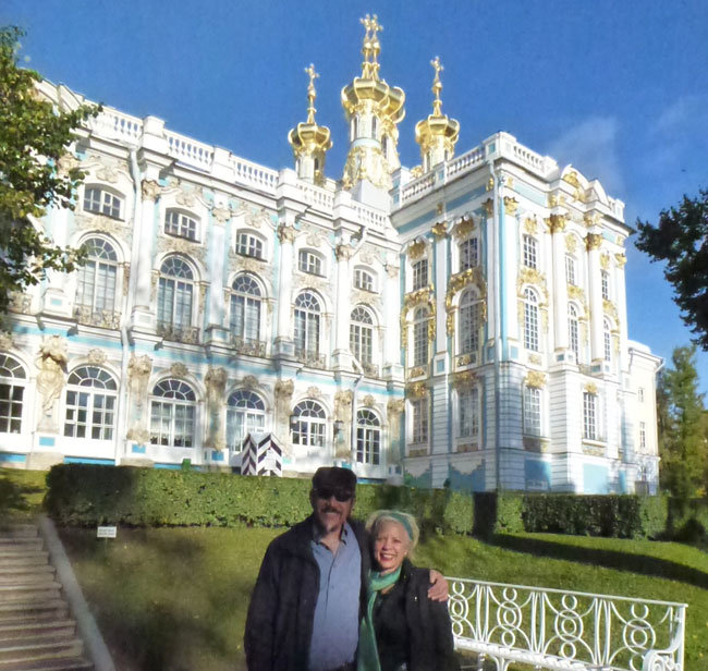 We're at Catherine the Great's Summer Palace in St. Petersburg, Russia